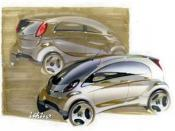 A very early sketch of the i during preliminary design and development of the vehicle.