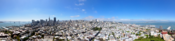English: Panorama taken from Coit Tower. Original size can be found here