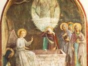 ANGELICO, Fra Resurrection of Christ and Women at the Tomb Fresco, 189 x 164 cm Convento di San Marco, Florence