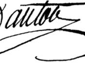 Signatures of Georges Danton, French orator and revolutionist.