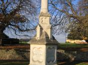 English: John Clare Memorial, Helpston, Peterborough. Poet born in the village 1793, died 1864 in Northampton Lunatic Asylum but buried in the nearby churchyard.