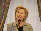 Hillary speaking to supporters, New York