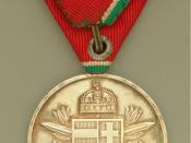 English: Hungarian Medal from World War II.