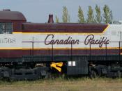 S3 660hp Diesel-Electric Locomotive, built 1957 for the Canadian Pacific Railway to designs by ALCO-GE