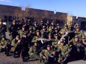 English: A number of Amateur young soldiers (with a bachelor's degree) in training term(Bimestrial) in the Malik al-Ashtar barracks belong to Law enforcement in Iran.