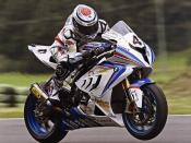 BMW S1000RR on the track