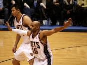 Yi Jianlian and Vince Carter with the New Jersey Nets