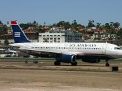US Airways/America West Airlines A320-231 at San Diego International Airport in San Diego, California