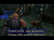 Jill's first encounter with Nemesis, showing a Live Selection.