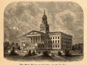 South Carolina State House. C. 1875, Source: The Great South; A Record of Journeys in Louisiana, Texas, the Indian Territory, Missouri, Arkansas, Mississippi, Alabama, Georgia, Florida, South Carolina, North Carolina, Kentucky, Tennessee, Virginia, West V