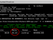 Français : Aperçu d'UPX sur Windows