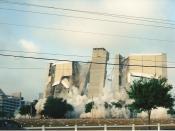 English: Tampa stadium Demolition