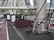 Looking forward along the deck