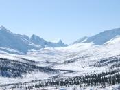 English: Tombstone Mountains, Yukon Territory, (near Dawson City); March 2008