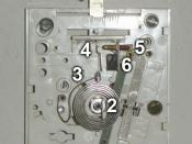 English: Mechanism of a household thermostat