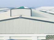 A Nike shoe factory built by PEB Steel.
