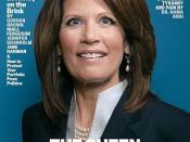A controversial Newsweek cover with Bachmann, entitled