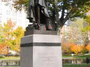 Horace Wells Monument, Bushnell Park, Hartford, Connecticut, USA. Sculptor Truman H. Bartlett (1835-1922); monument erected in 1875. If this sculpture were ever covered by copyright, it has long since expired.