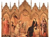 The Annunciation by Simone Martini, 1333, Uffizi, is International Gothic in style.