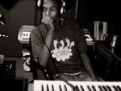 music producer Miles D in Studio