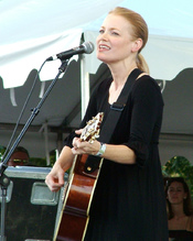 American country music singer-songwriter Kelly Willis at the Austin City Limits Music Festival