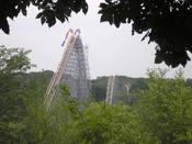 The Voyage wooden roller coaster at Holiday World amusement park in Santa Claus, Indiana. Photographed by Sjh123 during a June 2006 visit.