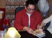 English: Andy Seto dedicating Crouching Tiger, Hidden Dragon comicbook