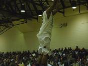 English: UCSU Trampline dunk during Midnight Madness (basketball)