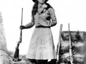 Annie Oakley between 1885 and 1901