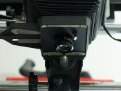English: EL-Nikkor lens mounted on a Besseler 45M enlarger