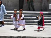 The kids dressed up in traditional clothes for the event.