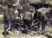 English: Ottomans preparing to fire