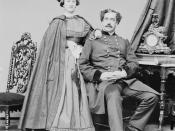 English: Major General Abner Doubleday and his wife
