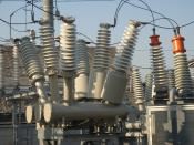 English: high voltage switch gear for three phases