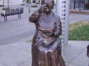A statue of Henrietta Edwards, part of a monument to the Famous Five (or Valiant Five).