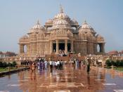 Akshardham Temple in Delhi, completed in 2005 and one of the largest Hindu temples in the world.