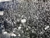 Thousands of Cretans celebrating OFI's last promotion to the 1st division