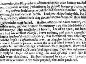 English: Jonson's commentary on William Shakespeare.