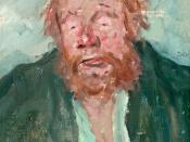 Emil Orlik: Actor Hans Wassmann as Nick Bottom in Shakespeare's A Midsummernight's Dream, 1909