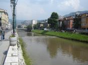 The Miljacka River in Sarajevo