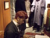The Sherlock Holmes Museum - 221b Baker Street, London - Dr Watson, Holmes and Lady Carfax - Mr Jabez Wilson