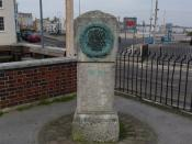 English: Weymouth - Memorial This is a memorial to Richard Clark and John Endicott, both Weymouth men. In 1585 Richard Clarke sailed with Sir Humphrey Gilberts voyage of discovery to Newfoundland. John Endicott set sail in 1628 on the ship Abigal, on an e