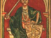Richard the Lionheart, an illustration from a 12th century codex