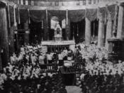 English: Newspaper drawing of Michael Collins funeral ( August 1922) Українська: Поховання Майкла Коллінза