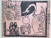 English: Program Cover Art for Alfred Jarry's Ubu Roi, which premiered at the Théâtre de l'Œuvre on 10 December 1896.