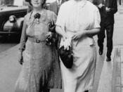 English: Catherine Maria Dillon (nee Kennedy), 1942. Catherine Dillon shopping with a friend in Brisbane city.