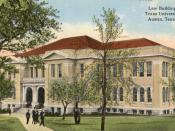 English: Postcard showing the Law Building of the in , USA.
