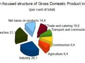 English: Sector-focused_structure_of_Gross_Domestic_Product_in_Belarus in 2008 Source:National Statistical Committee of the Republic of Belarus http://belstat.gov.by/homep/en/main.html