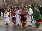 Students in traditional dress at First Day of School celebration in Kabul