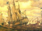 English: Fleet of Peter the Great (1909) by Eugene Lanceray.